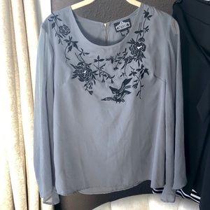 Floral sheer blouse